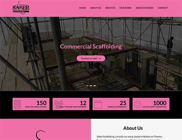 saber scaffolding - Web Portfolio
