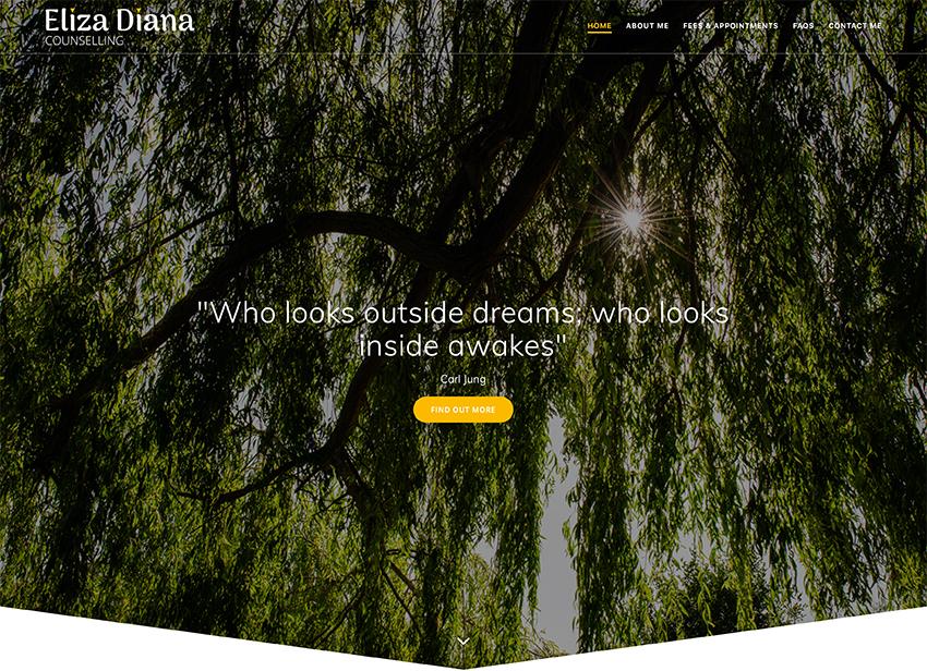 eliza diana counselling - Web Portfolio